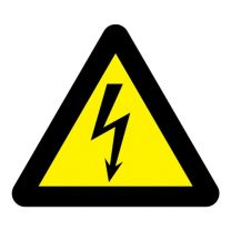 Elektrisch gevaar sticker Hoogte 100mm voor afstand < 3 meter